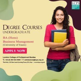 BA (Hons)- Business Management (University of Essex)