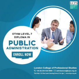 OTHM Level 7 Diploma in Public Administration